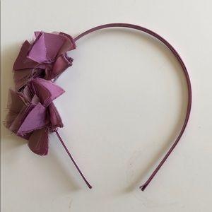 J. Crew silk flower headband